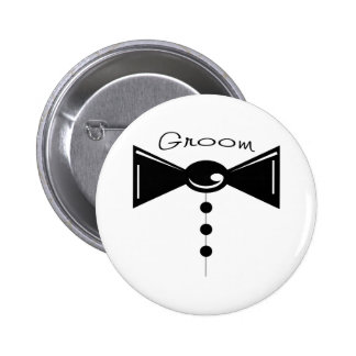 Groom Tux T-Shirts & Gifts 2 Inch Round Button