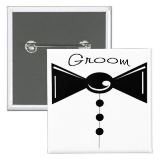 Groom Tux T-Shirts & Gifts 2 Inch Square Button