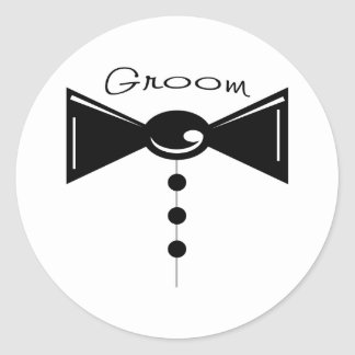 Groom Tux T-Shirts & Gifts Classic Round Sticker
