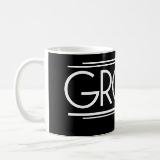 GROOM Type Hand Lettering - Art Deco Elegant Style Coffee Mug