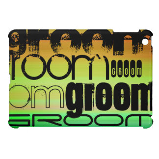 Groom; Vibrant Green, Orange, & Yellow iPad Mini Cover