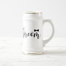 Groom-Wedding,-Bachelor-party-tie Beer Stein