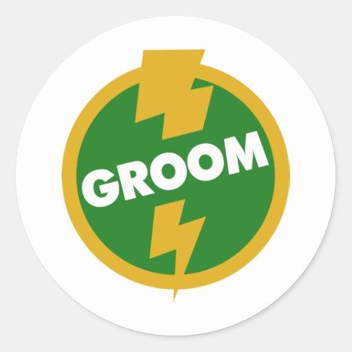 Groom Wedding - Dupree Round Sticker