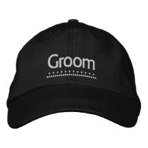 Groom - Wedding embroidered hat