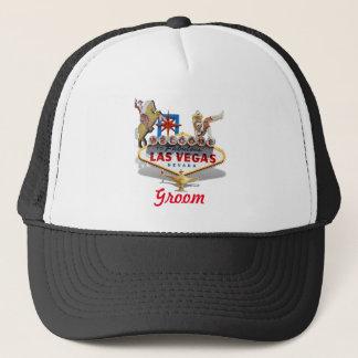 Groom -  Wedding - Las Vegas Welcome Sign Trucker Hat