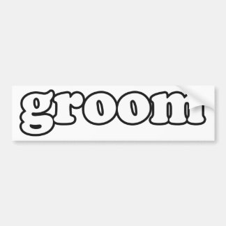 """Groom"" Wedding Party Gifts (Husband) Bumper Stickers"