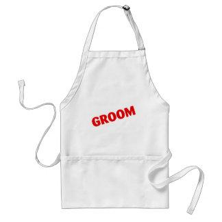 Groom Wedding Red Aprons