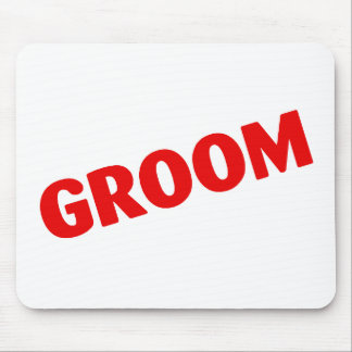 Groom Wedding Red Mouse Pad