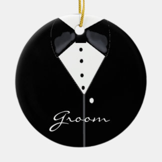 Groom Wedding Tuxedo Ceramic Ornament