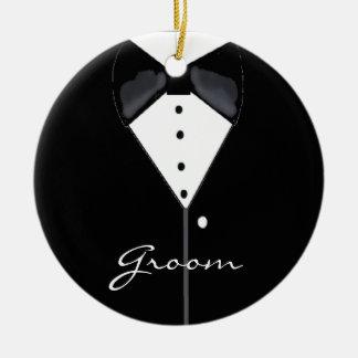 Groom Wedding Tuxedo Christmas Ornaments