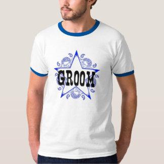 Groom Western Blue T-Shirt