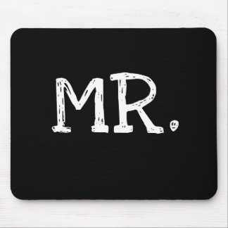 Groom White Text Mr. Mouse Pad