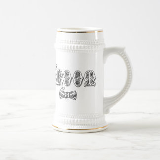 Groom with Bow Tie White and Black Type 18 Oz Beer Stein