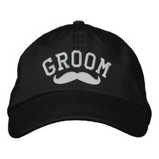 Groom with Mustache Baseball Cap