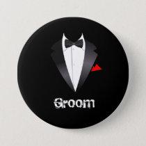 Groom with Tuxedo Shirt - Button