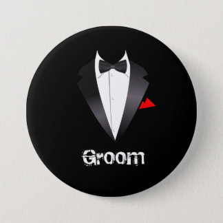 Groom with Tuxedo Shirt - Button