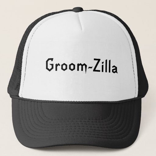 Zazzle Groom-Zilla Bachelor Party Gifts Trucker Hat