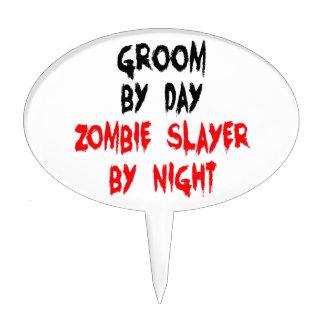 Groom Zombie Slayer Cake Topper