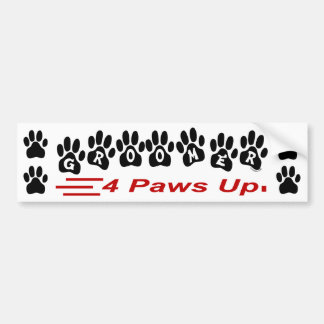 Groomer 4 Paws Up Bumper Sticker