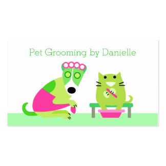 Groomer - balneario del perro y del gato tarjetas de visita