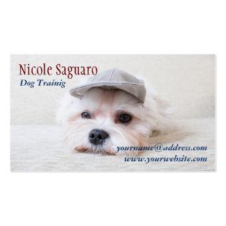 Groomer del adiestrador de perros tarjetas de visita
