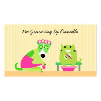 Groomer del mascota tarjetas de visita
