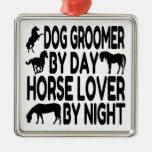 Groomer del perro del amante del caballo ornamento de navidad