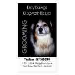 Groomer del perro o lavado fangoso del perro tarjetas de visita