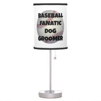 Groomer fanático del perro del béisbol lámpara de mesilla de noche
