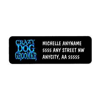 Groomer loco del perro etiquetas de remite