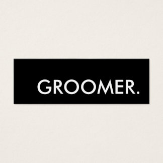 groomer. loyalty punch card