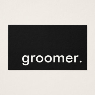 groomer. loyalty punch card