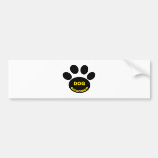 Groomer Paw Bumper Sticker