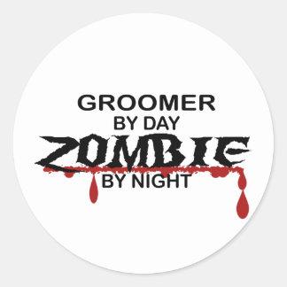 Groomer Zombie Classic Round Sticker