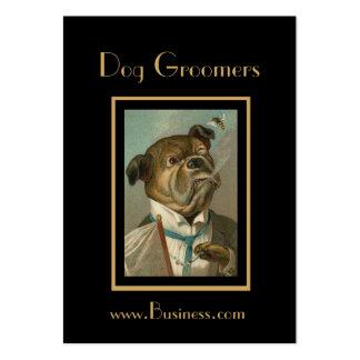 Groomers del perro del vintage de la tarjeta del tarjetas de visita grandes