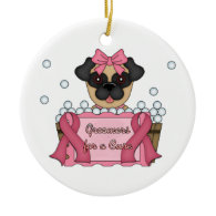 Groomers for A Cure Breast Cancer Awareness Christmas Ornament
