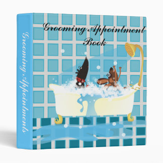 Grooming Appointment Book 3 Ring Binders