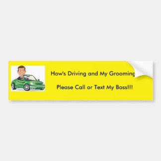 Grooming Bumper Sticker