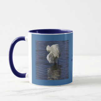 Grooming Egret Mug