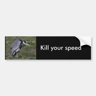 Grooming Heron Car Bumper Sticker