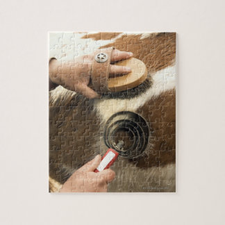 Grooming horse jigsaw puzzle