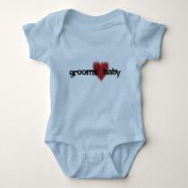 grooms baby - heart baby bodysuit