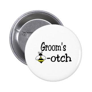 Groom's Bee-otch Button