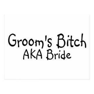Grooms Bitch AKA Bride Postcard