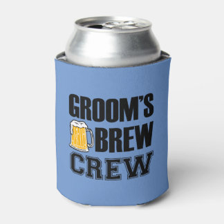 Groom's Brew Crew funny groomsman beer Can Cooler