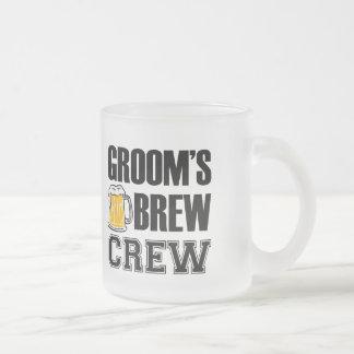 Groom's Brew Crew funny groomsman beer frosted mug