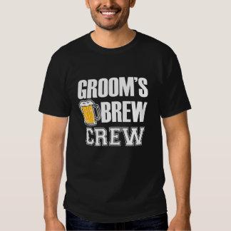 Groom's Brew Crew funny groomsman beer T Shirt