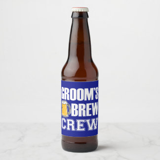 Groom's Brew Crew Groomsmen beer bottle label