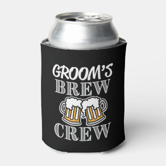Groom's Brew Crew Groomsmen - Groomsman can beer Can Cooler