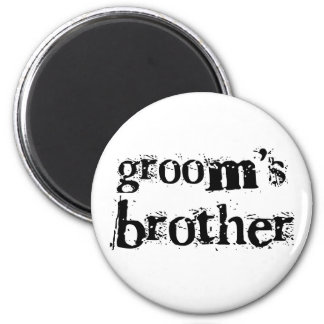 Groom's Brother Black Text Magnets